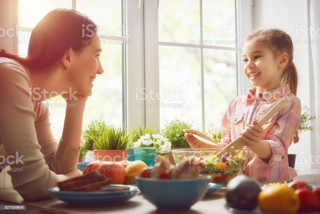 Enjoying  family dinner stock photo
