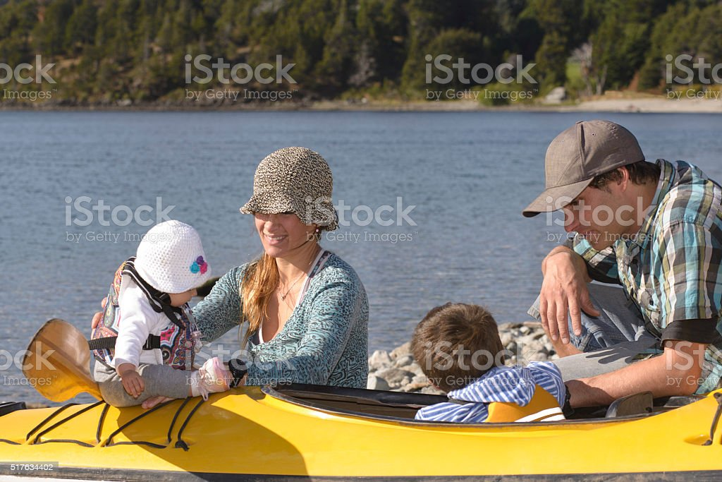 Enjoying Family stock photo