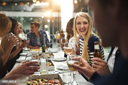 istock Enjoying good food and great company 598146314