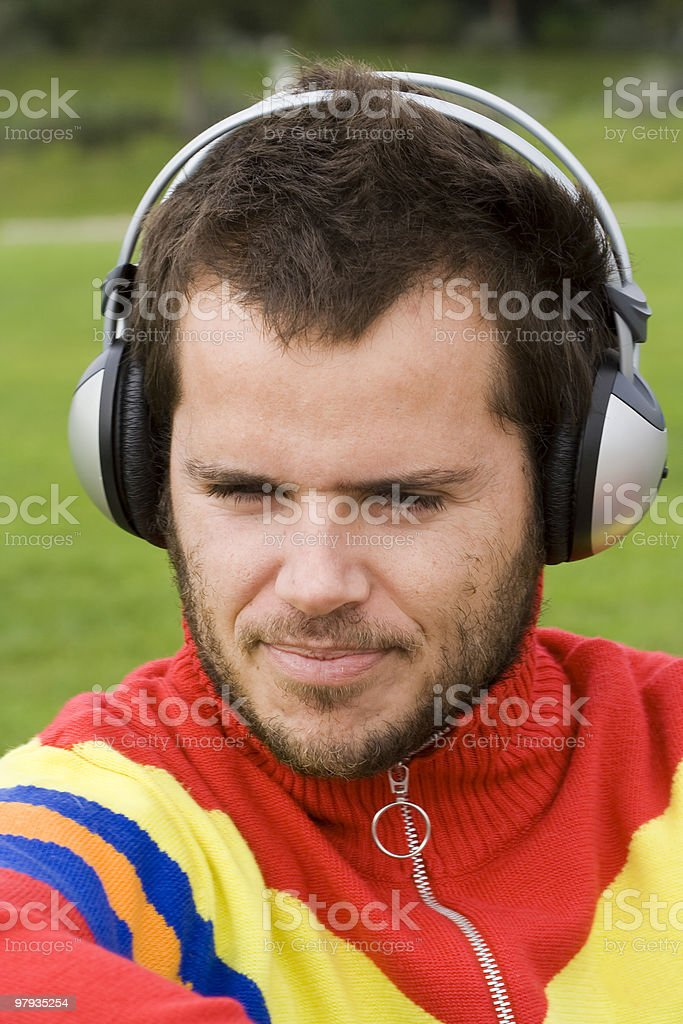 enjoying good music royalty-free stock photo