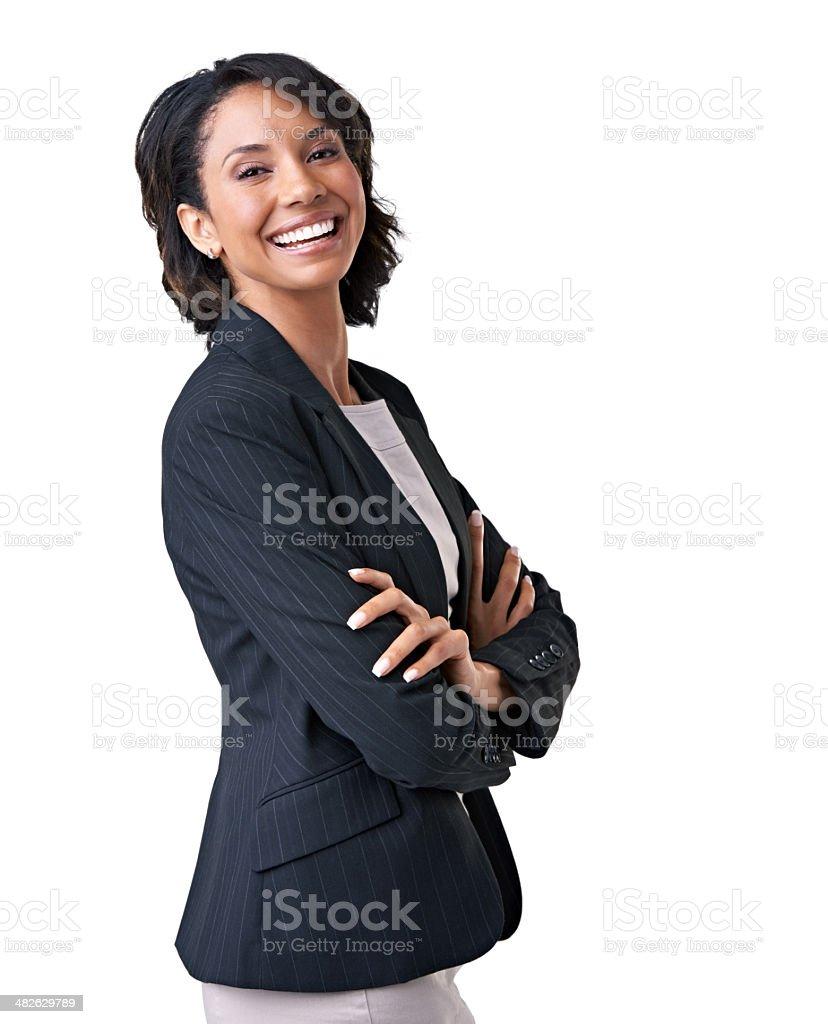 Enjoying her corporate role - Job satisfaction stock photo