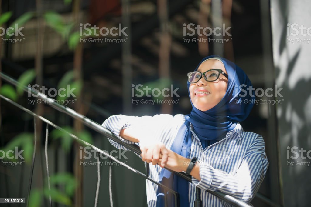 Enjoying Her Day royalty-free stock photo