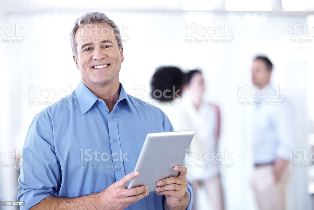 Enjoying his career stock photo