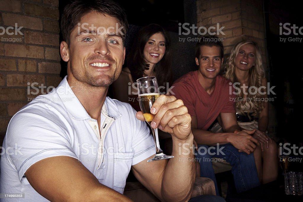 Enjoying his night out royalty-free stock photo