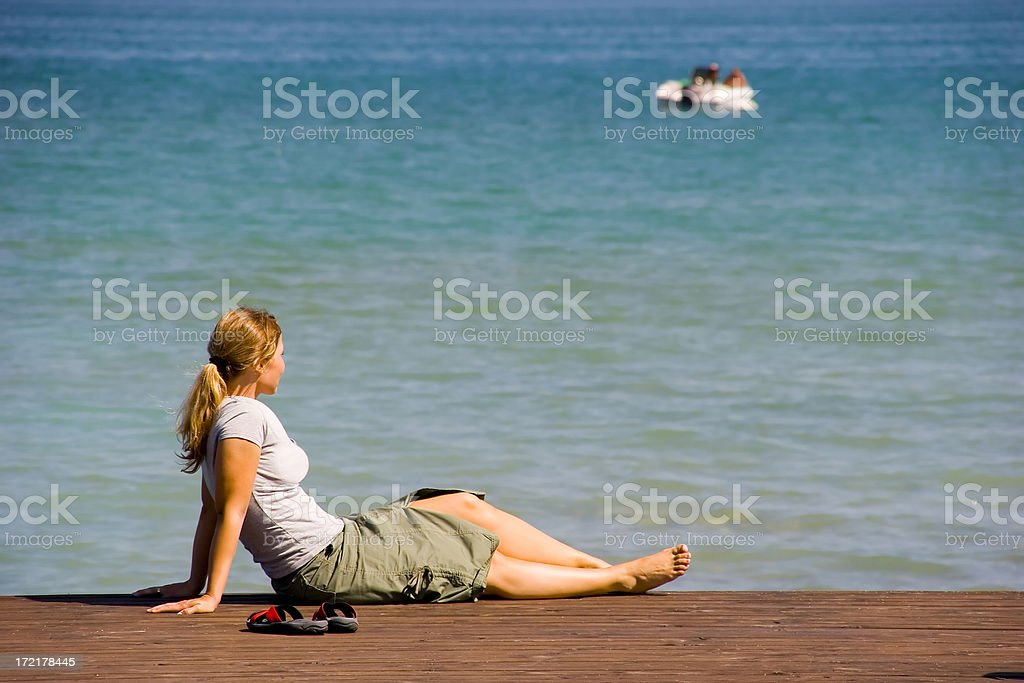 Enjoying holidays stock photo