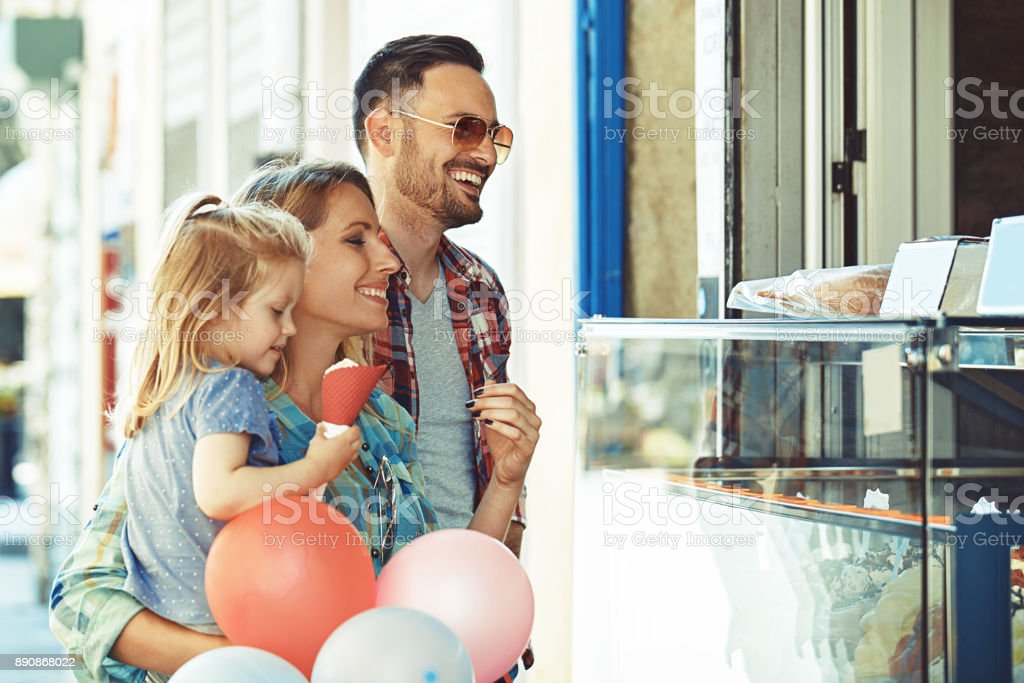 Enjoying icecream stock photo