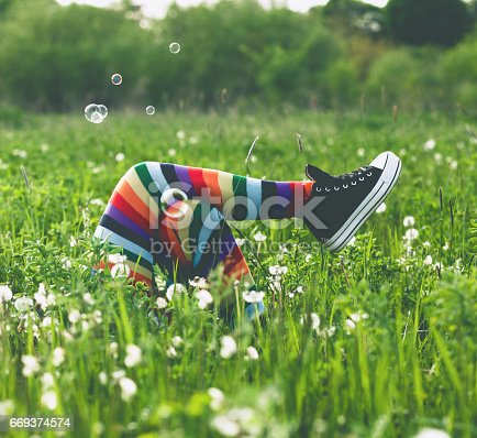 Enjoying in springtime