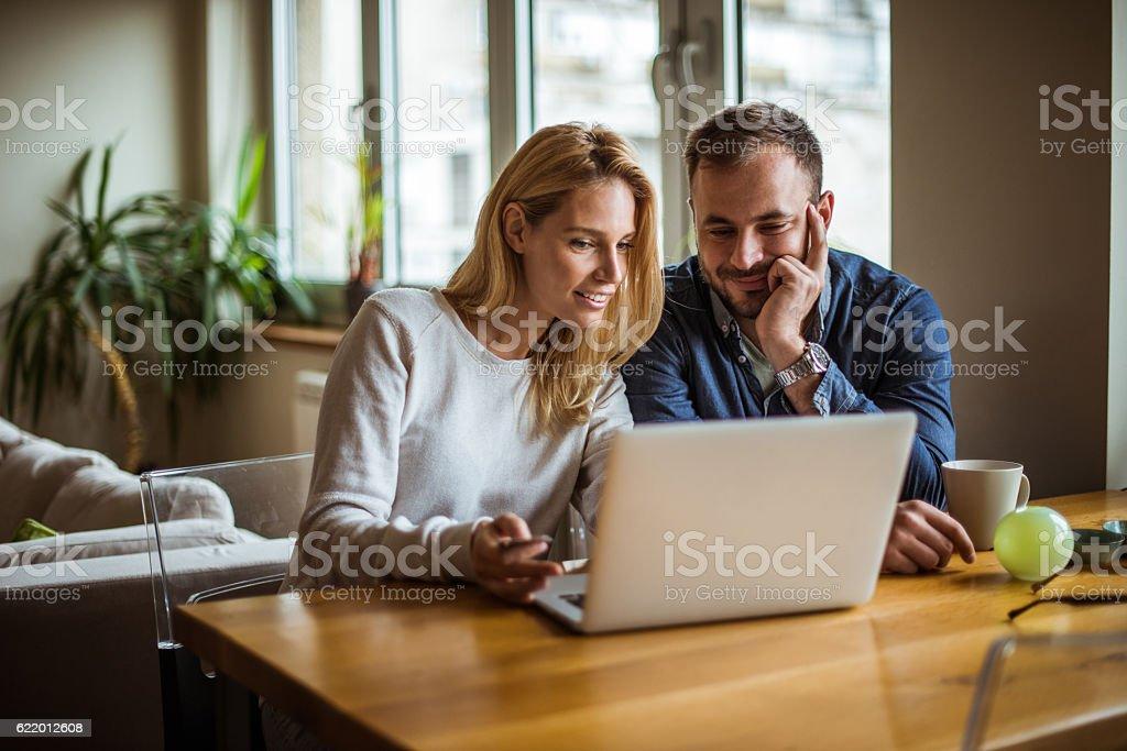 Enjoying internet time stock photo