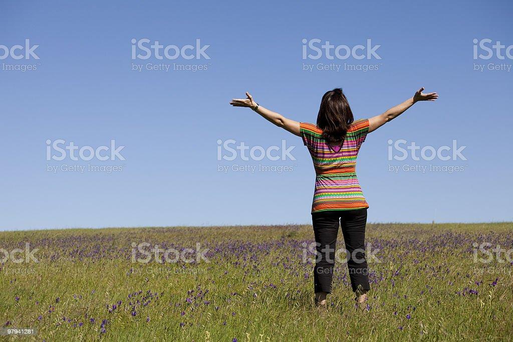 Enjoying life in the spring royalty-free stock photo
