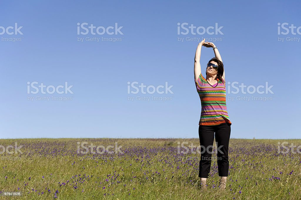 Enjoying life in the spring royalty-free stock photo