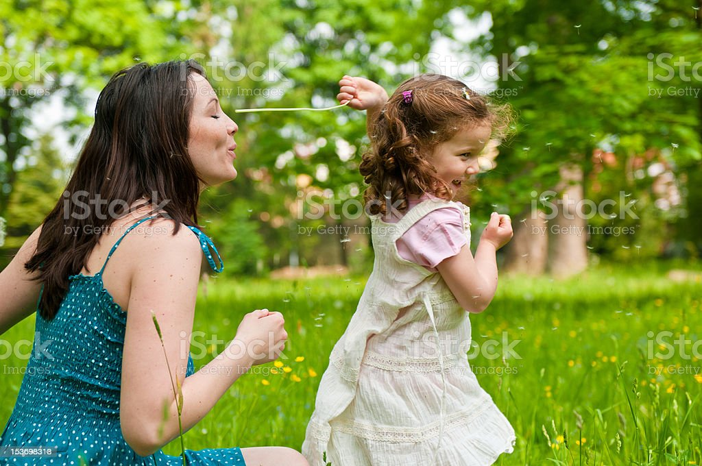 Enjoying life - mother with her child royalty-free stock photo