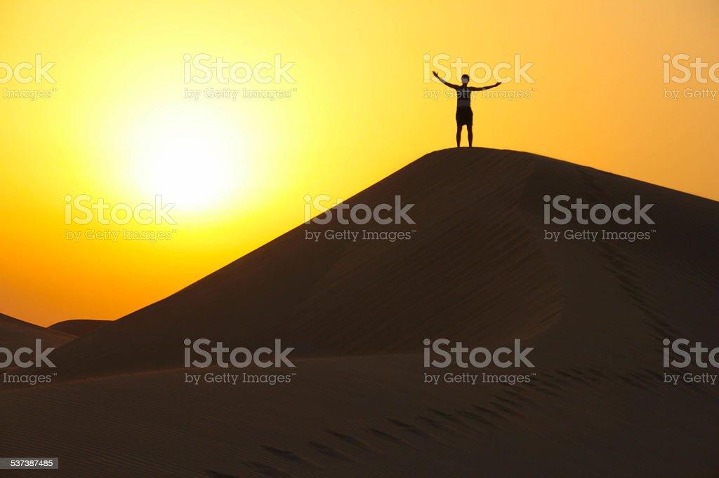 Genießen Sie das Leben auf einer Sanddüne – Foto