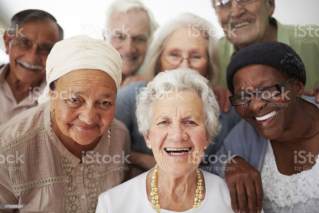 Enjoying life to the fullest everyday stock photo