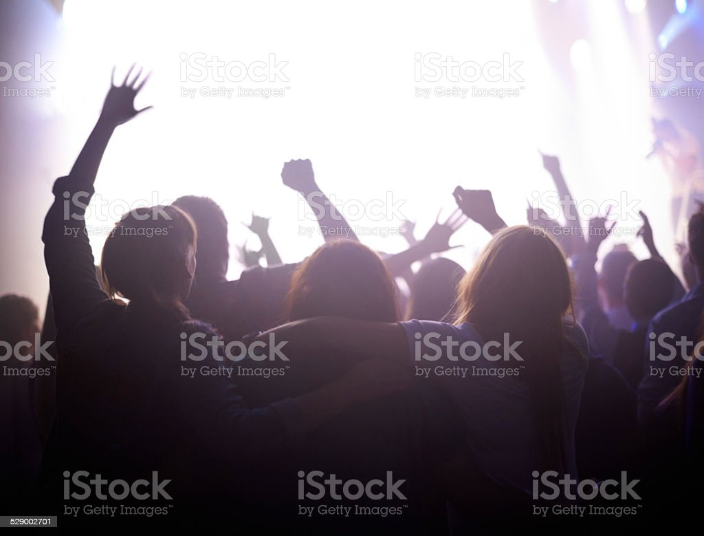 Enjoying live music stock photo