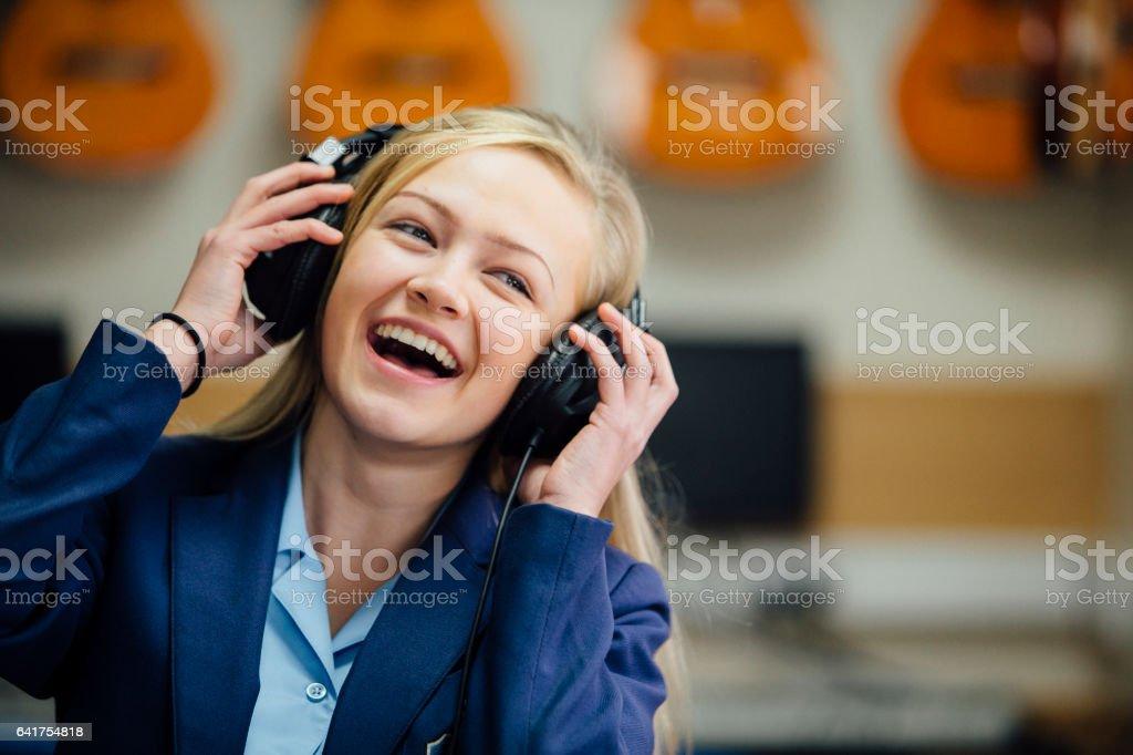 Profitant de la musique à l'école - Photo