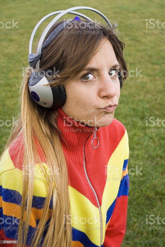 enjoying music outdoor royalty-free stock photo