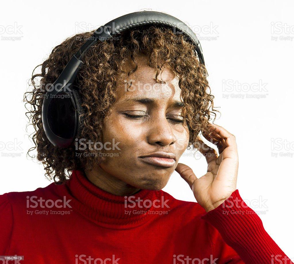 Enjoying Music royalty-free stock photo