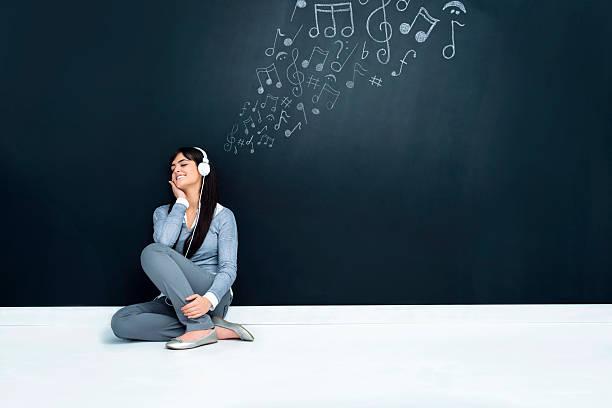 desfruta de música - desenhos de notas musicais - fotografias e filmes do acervo