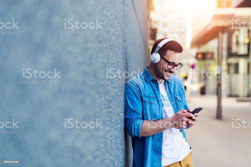 Müzik keyfi - Royalty-free Adamlar Stok görsel