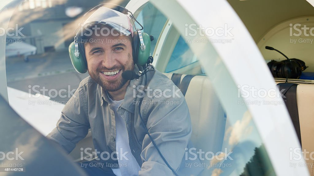 Enjoying my work stock photo