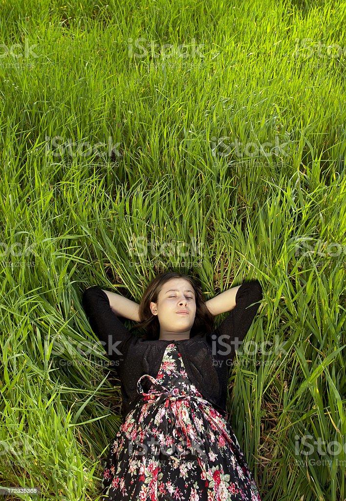 Enjoying nature royalty-free stock photo