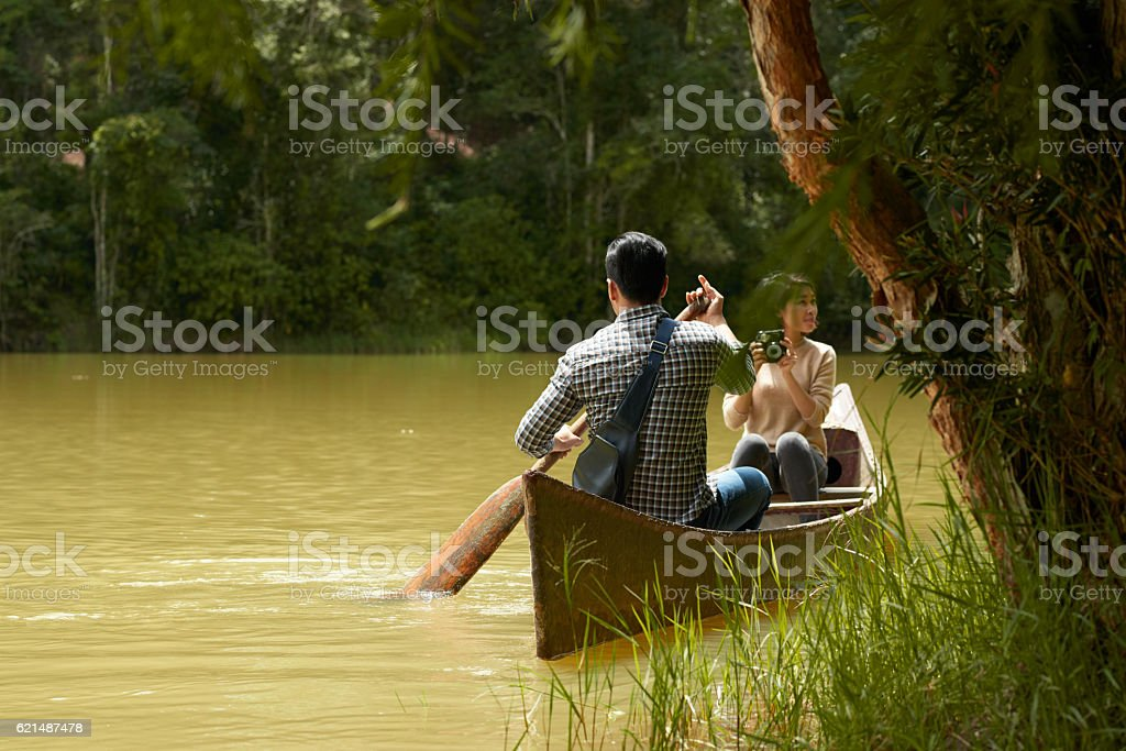 Godersi la natura  foto stock royalty-free