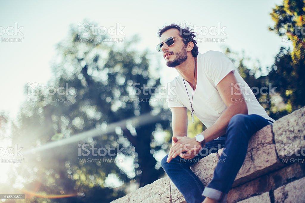 Enjoying nice day - foto de stock