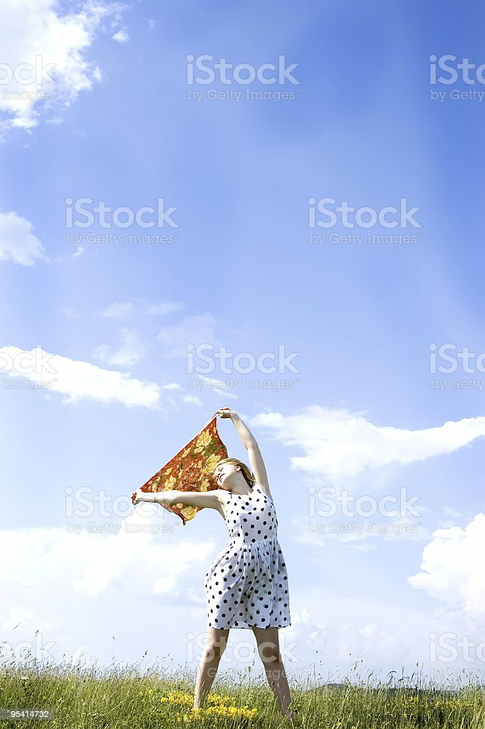 enjoying royalty-free stock photo