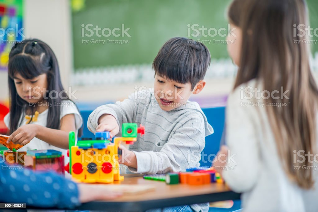 Enjoying Playing At School royalty-free stock photo