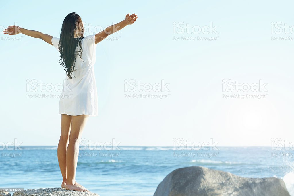 Enjoying pure freedom stock photo