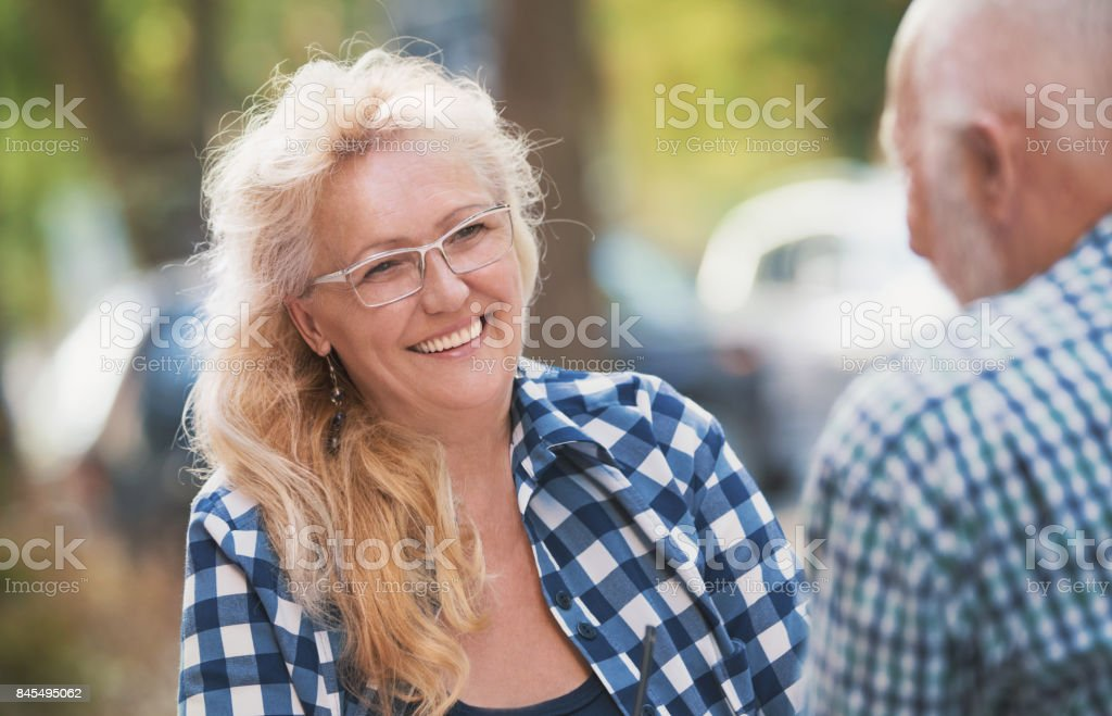 Enjoying retirement. stock photo