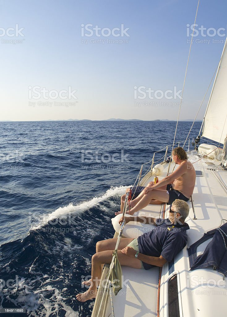 Enjoying Sailing royalty-free stock photo