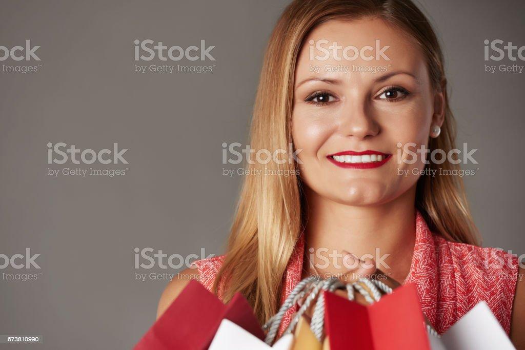 Enjoying shopping photo libre de droits