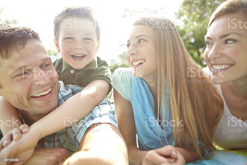 Enjoying some family quality time royalty-free stock photo