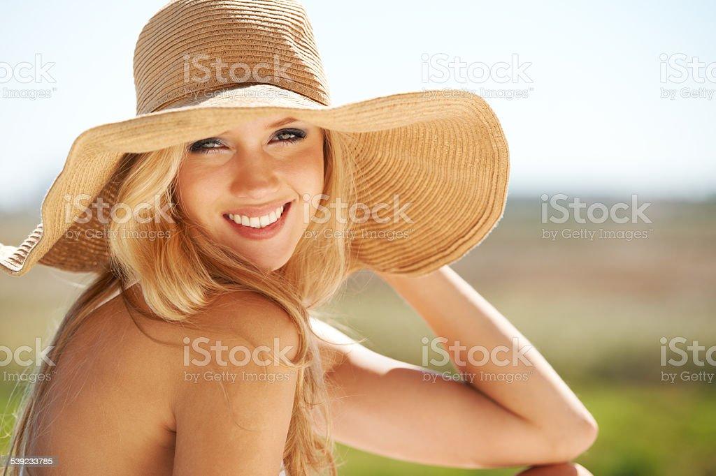 Desfrutar de um pouco de sol do responsável foto royalty-free