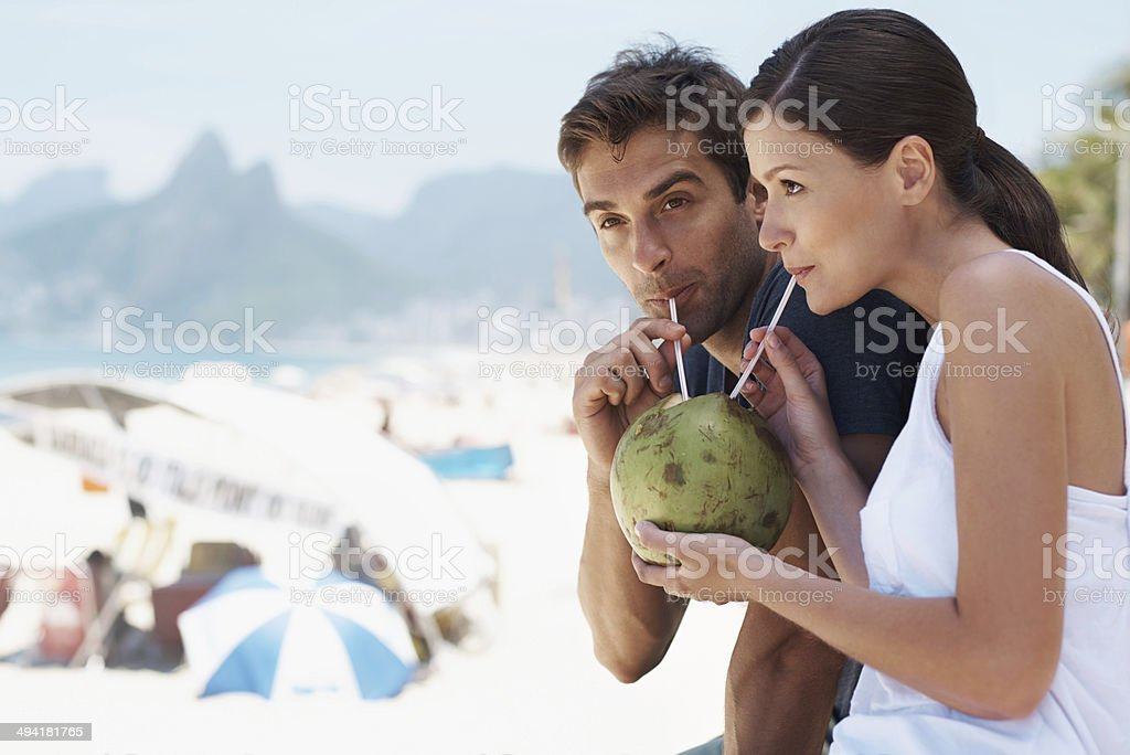Enjoying something new with the person I love stock photo