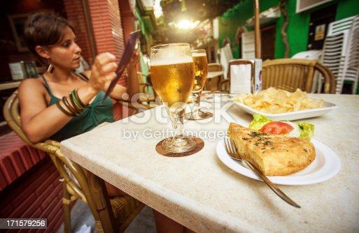 508216406 istock photo Enjoying Spanish Tapas and Beer 171579256