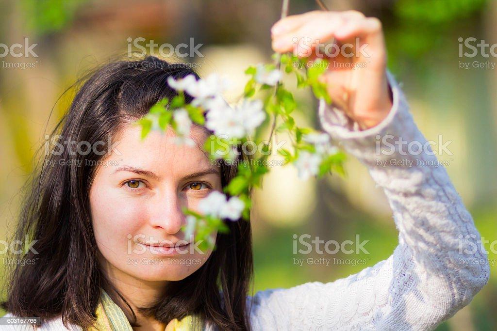 Enjoying spring time stock photo