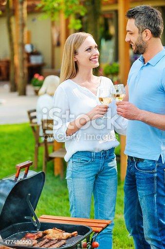 696841580istockphoto Enjoying summer barbeque. 477486550