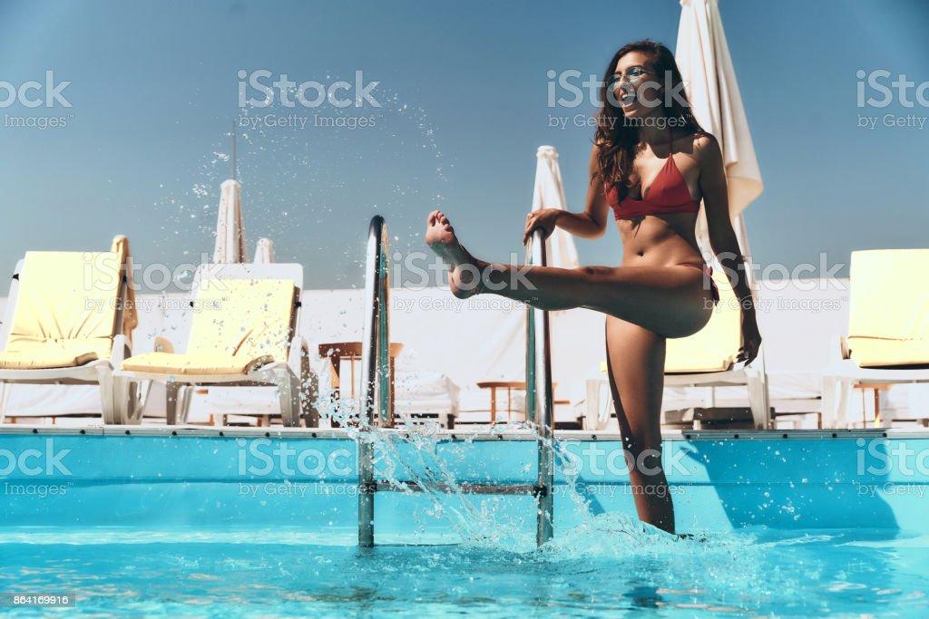 Enjoying summer day. royalty-free stock photo