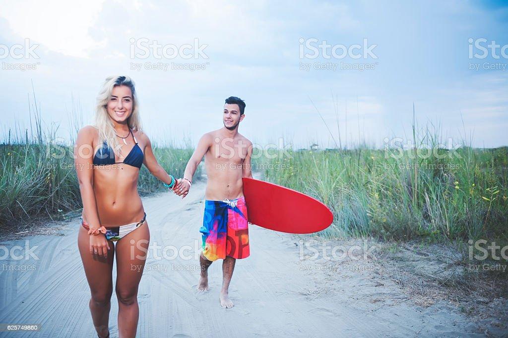 Enjoying summer stock photo