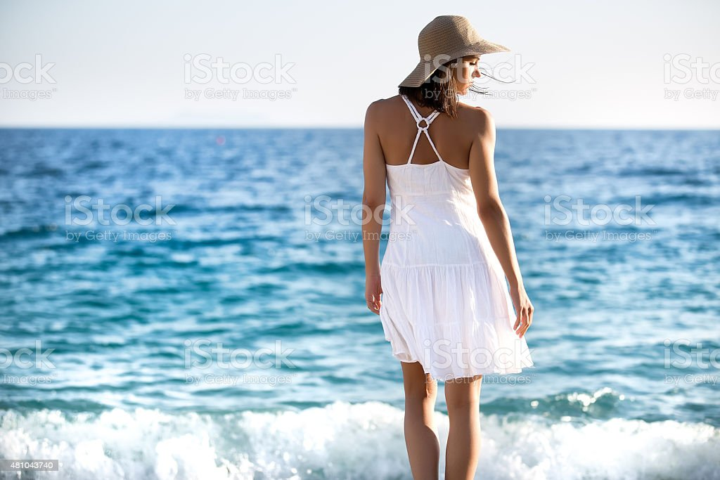 Enjoying summer.Travel and vacation.Freedom and inspiration concept stock photo