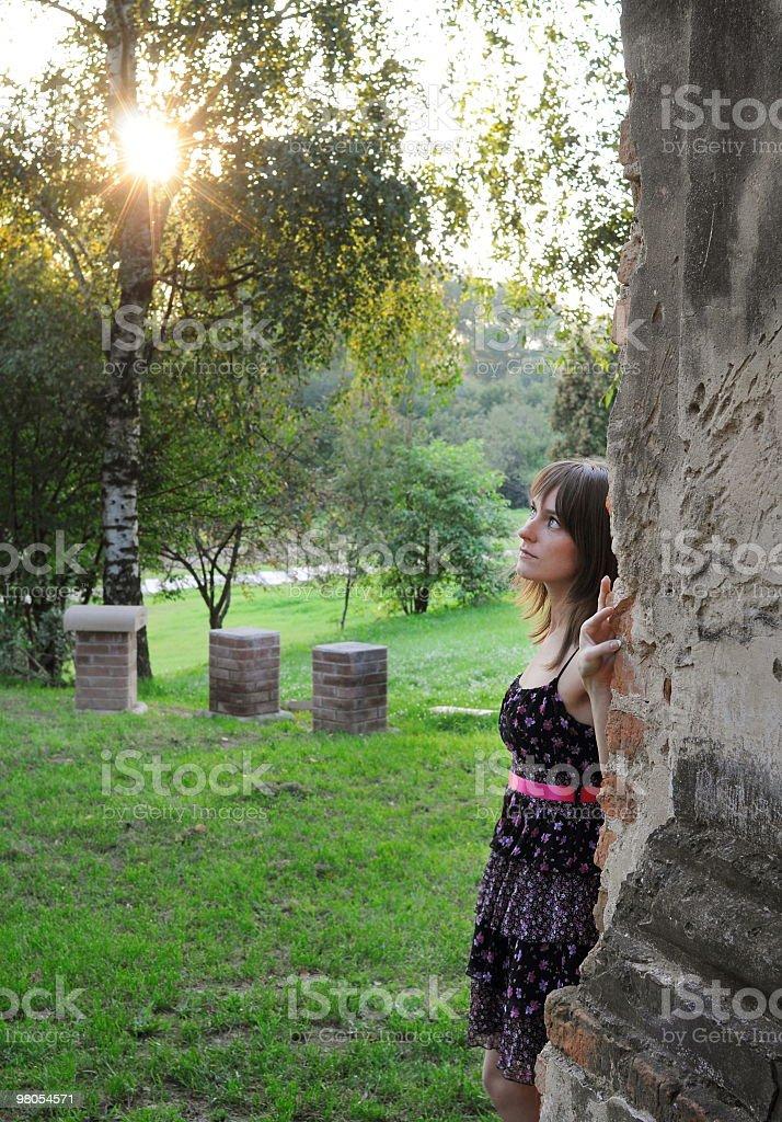 Enjoying sunlight royalty-free stock photo