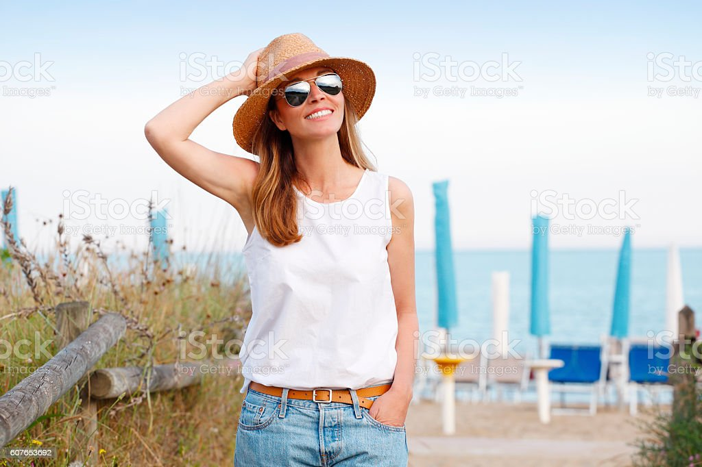 Enjoying sunshine stock photo