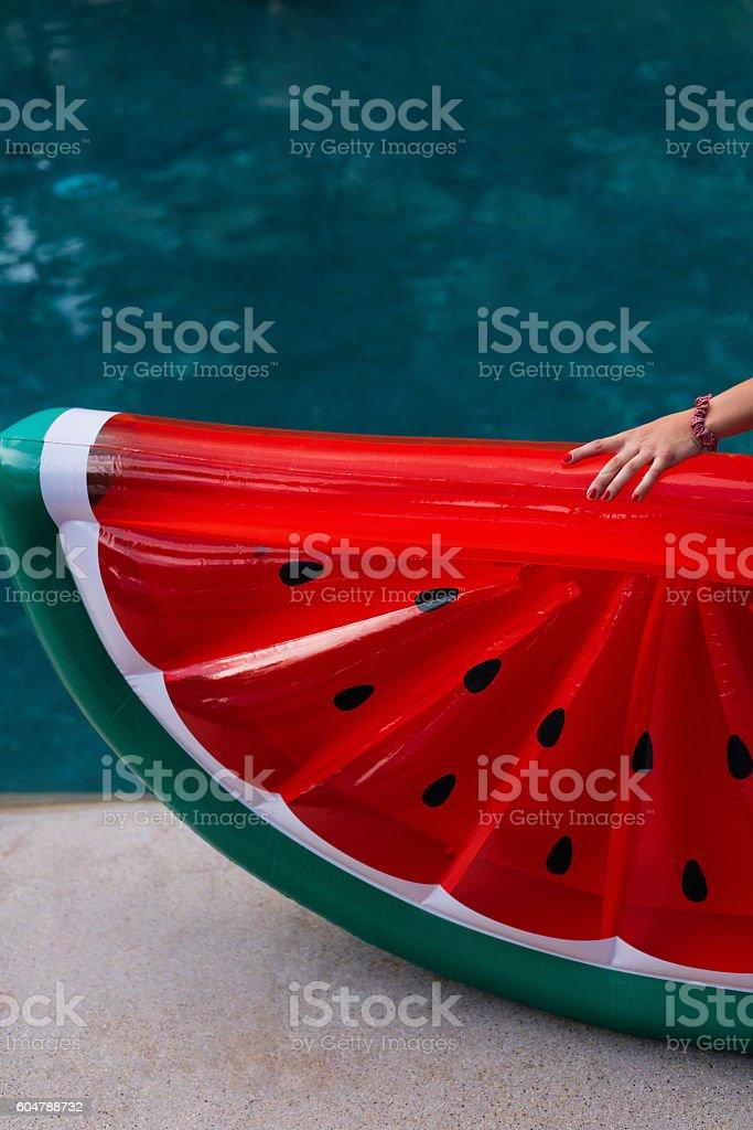 Enjoying suntan. Vacation concept. stock photo