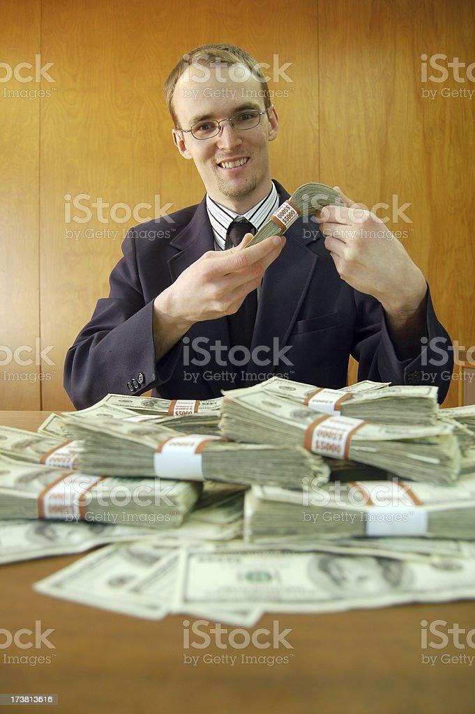 Enjoying the Bailout stock photo