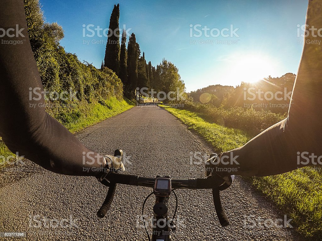 Cycling training in beautiful Tuscany on autumn season. Personal...