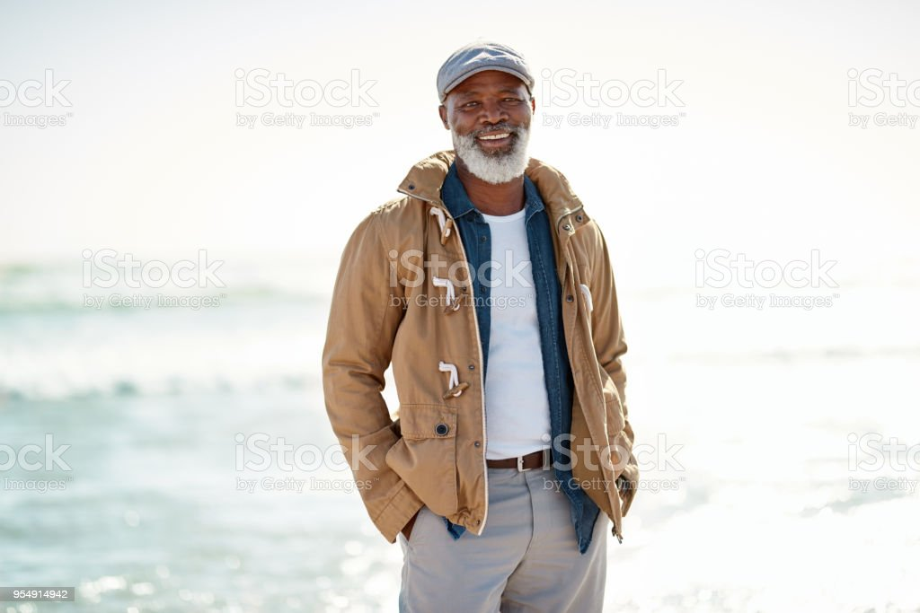 Enjoying the comfortable retirement I worked hard for stock photo