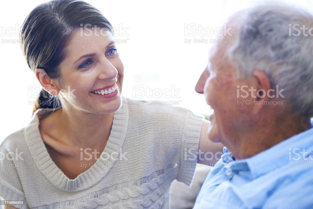 Enjoying the conversation royalty-free stock photo