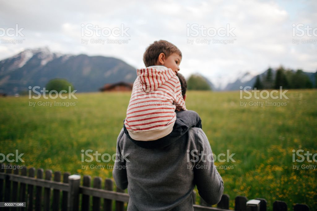 Enjoying the countryside stock photo